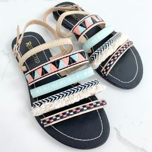 Restricted; Bohemian Multicolor Sandals